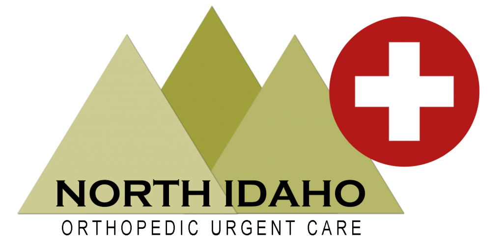 Logo for North Idaho Orthopedic Urgent Care NIOUC, the immediate care/ urgent care in the medical village